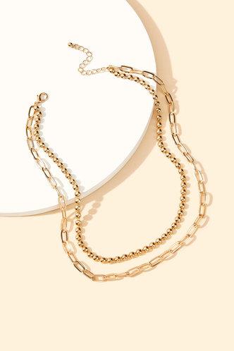 back_Antoinette Ella Gold Simple Chain Necklace