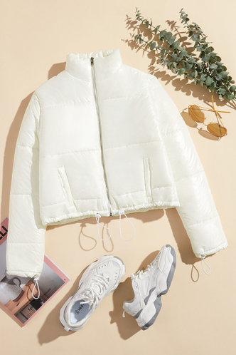 front_Adela Elaine White Puffer Jacket