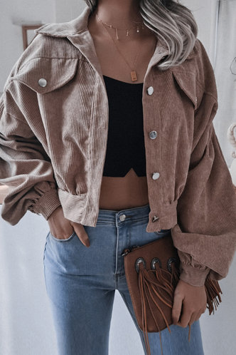 front_Desirea Khaki Corduroy Jacket