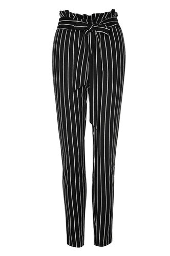 front_Show Your Stripes Black And White Striped Striped Pants