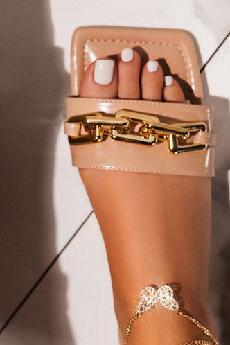 back_Ivory Emma Khaki Open Toe Slide Sandals