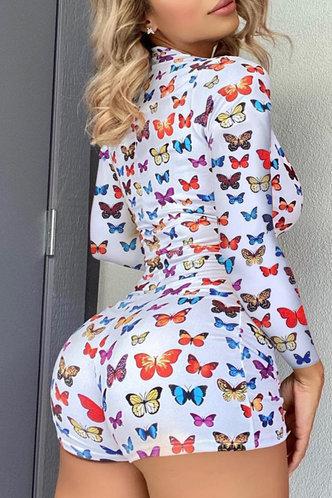 back_Pamela Eve Butterfly Print Romper