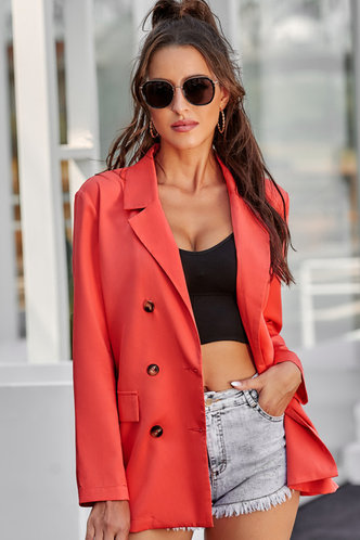 front_Fawn Red Blazer