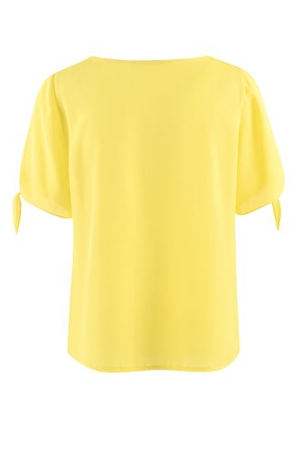 back_The City of the Ocean Mustard Yellow Short Sleeve Top
