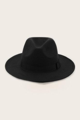 front_Stephanie Evangeline Black Cow Boy Hat
