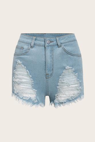 back_Sadie Erin Wash Light Blue Denim Shorts
