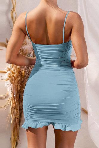 back_Deane Edith Blue Flounce Hem Dress