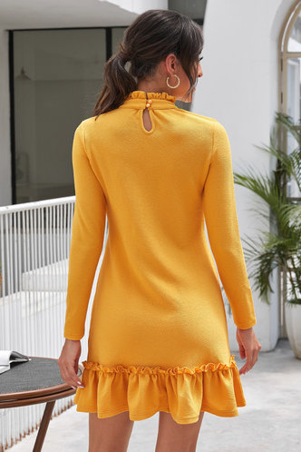 back_Caroline Eden Yellow Dress