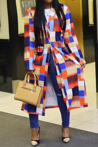 back_Afra Eve Colorblock Trench Coat