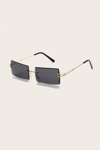 back_Summer Eleanore Black Metal Frame Tinted Lens Sunglasses