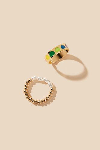 back_Rae Edith Gold Faux Pearls Decor Ring 2pcs