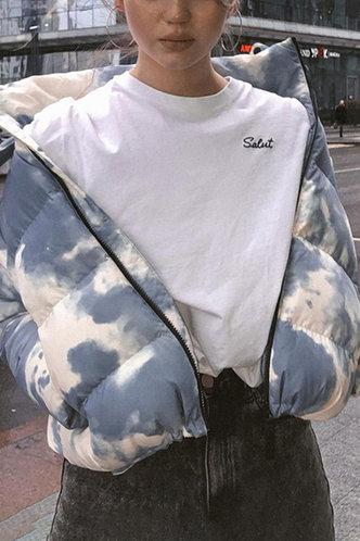 back_Hackett Multicolor Puffer Jacket