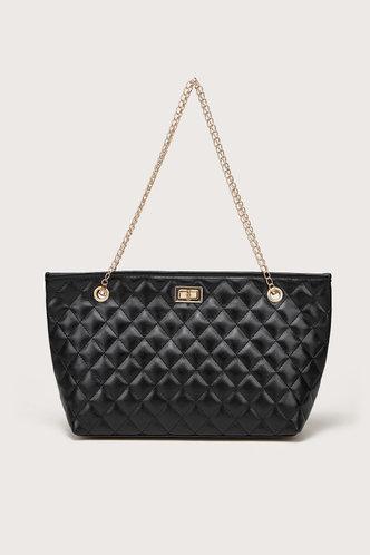 front_Lara Elma Black Tote Bag