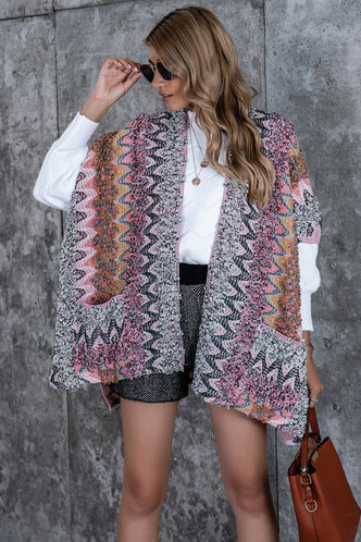 front_Amor Multicolor Knit Cardigan