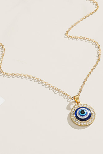 back_Gwen Erin Gold Rhinestone Charm Necklace 1pc