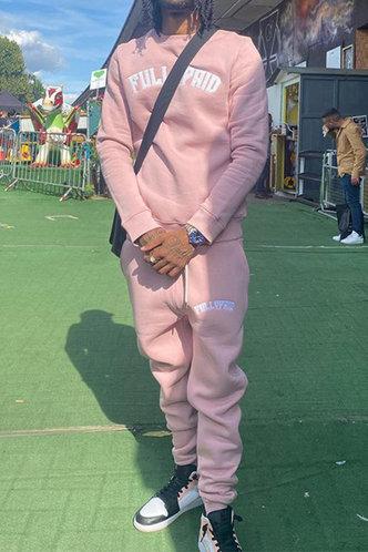 back_Sporty Letter Pink Men Pants Sets