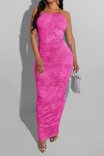 back_Lilly Elma Rose Pink Bodycon Tube Dress