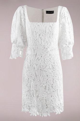 front_Mimosa White Midi Dress
