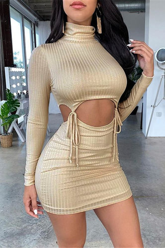 front_Khaki  Dresses