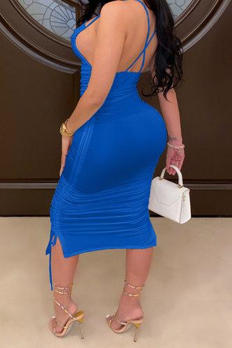 back_Georgia Ella Royal Blue Drawstring Side Open Back Dress