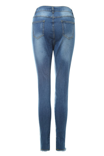 back_La Vie En Rose Blue Ripped Jeggings