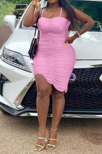 back_Deidre Esther Pink Cami Bodycon Dress