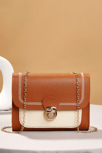 front_Sybil Erica Brown And White Crossbody Bag