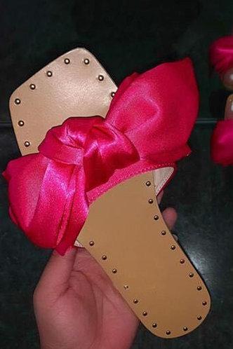 front_Frances Enid Rose Red Slide Sandals