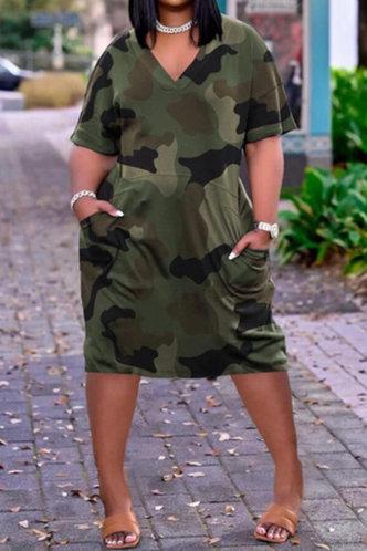 front_Daphne Kvarop Camo Plus Short Sleeve Dress