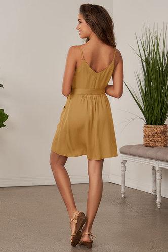back_Soon Mustard Mini Dress