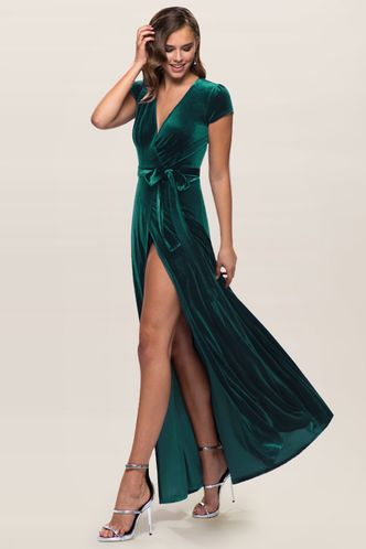 front_Dreaming Of You {Color} Velvet Maxi Dress