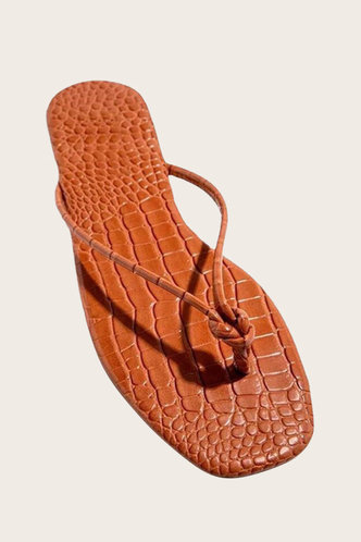 back_Cora Hakil Brown Thong Sandals