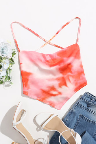 back_Holly Elaine Orange Tie Dye Crop Top