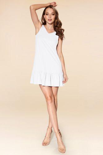 front_Cruising Day White Mini Dress