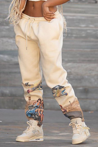 front_Maura Elma Light Khaki Sweatpants