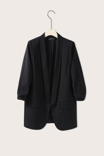 back_Scrunched Up Black Blazer