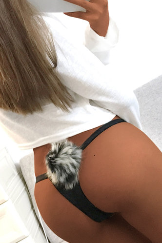 front_Agar Edith Black Panty