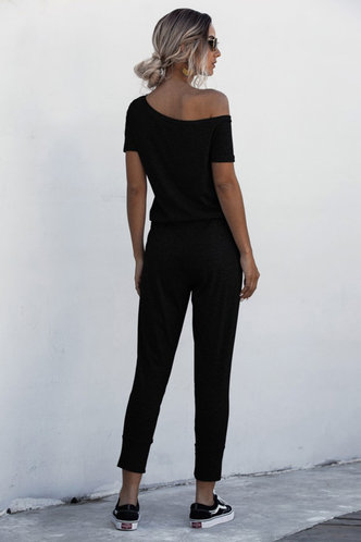 back_Brigitte Black Jumpsuit