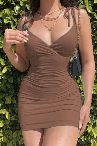front_Lena Emma Brown Dress