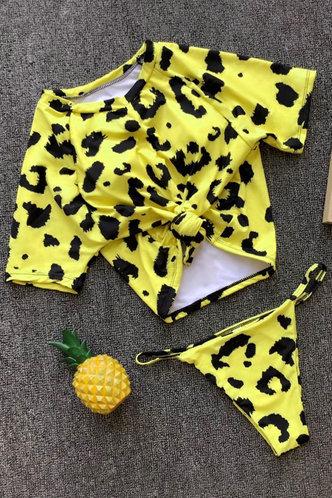 back_Leah Eartha Yellow Leopard Print Tankini