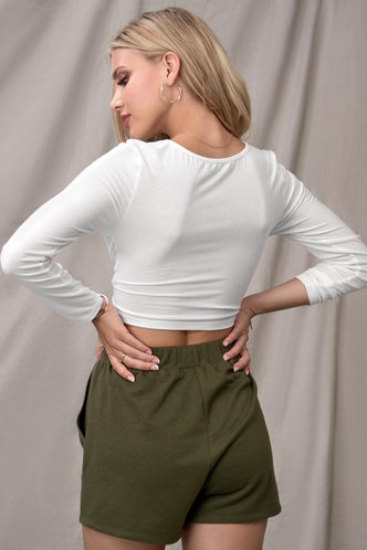 back_Confidence Is Key White Long Sleeve Top