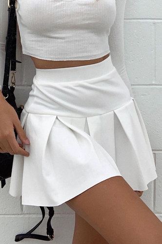 back_Wilma Eleanore White Pleated Skirt