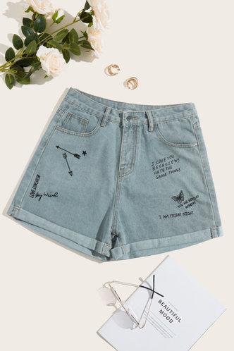 front_Kimberly Enid Wash Light Blue Shorts