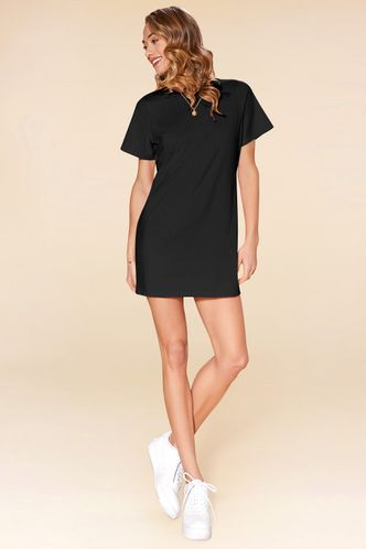 back_Call Me Angel Black Mini Dress
