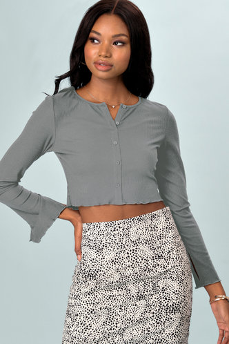 front_Reasons {Color} Long Sleeve Top