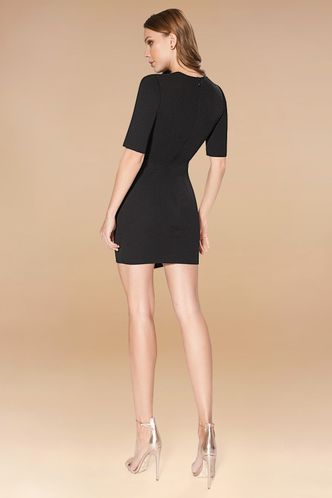 back_Starless Sky Black Mini Dress