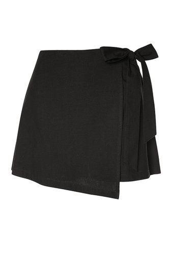 front_Amabel Black Shorts