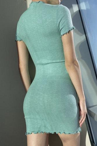 back_Heloise Marist Green Bodycon Dress
