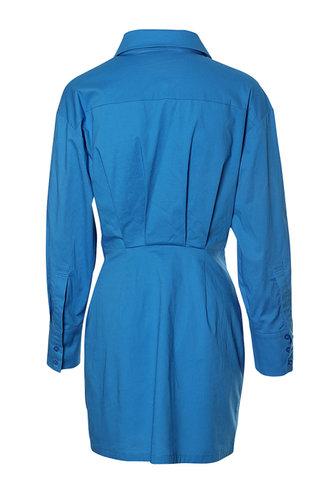 back_Cathy Eileen Blue Front Shirt Dress