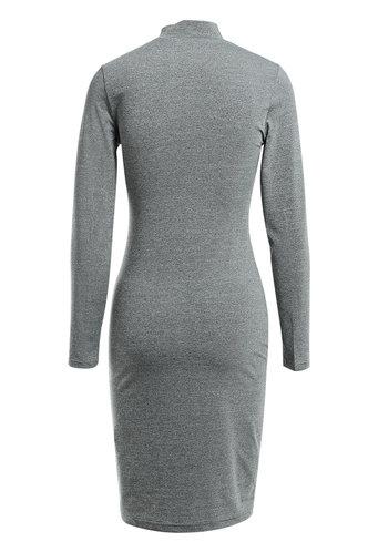 back_Hold Me Tight Grey Knit Dress